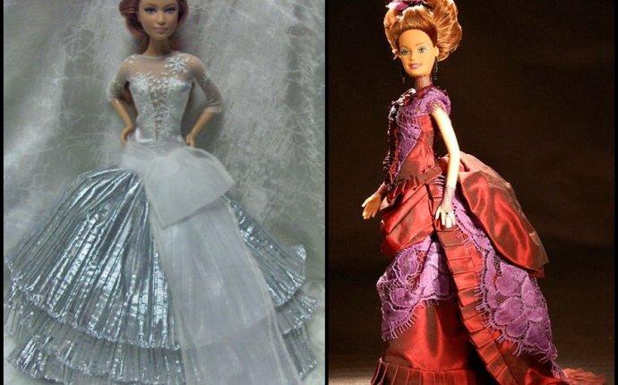 Красивое платье для кукол - Идей на тему «Платья Для Кукол в