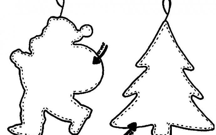 Новогодняя елка шаблон для вырезания из бумаги Раскраски