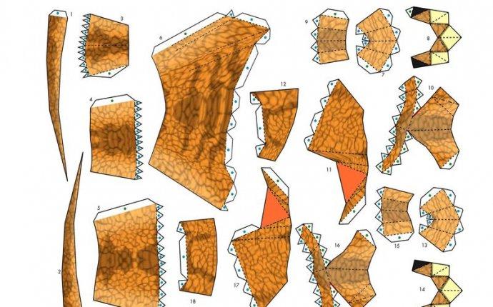 Paper Craft – игрушки из бумаги. Динозавр Аллозавр — выкройка
