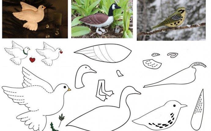 Птицы из фетра / Шитьё / В рукоделии